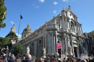 dettaglio Cattedrale di Sant'Agata (duomo), durante i festeggiamenti per Sant'Agata 2019 - Catania (CT)