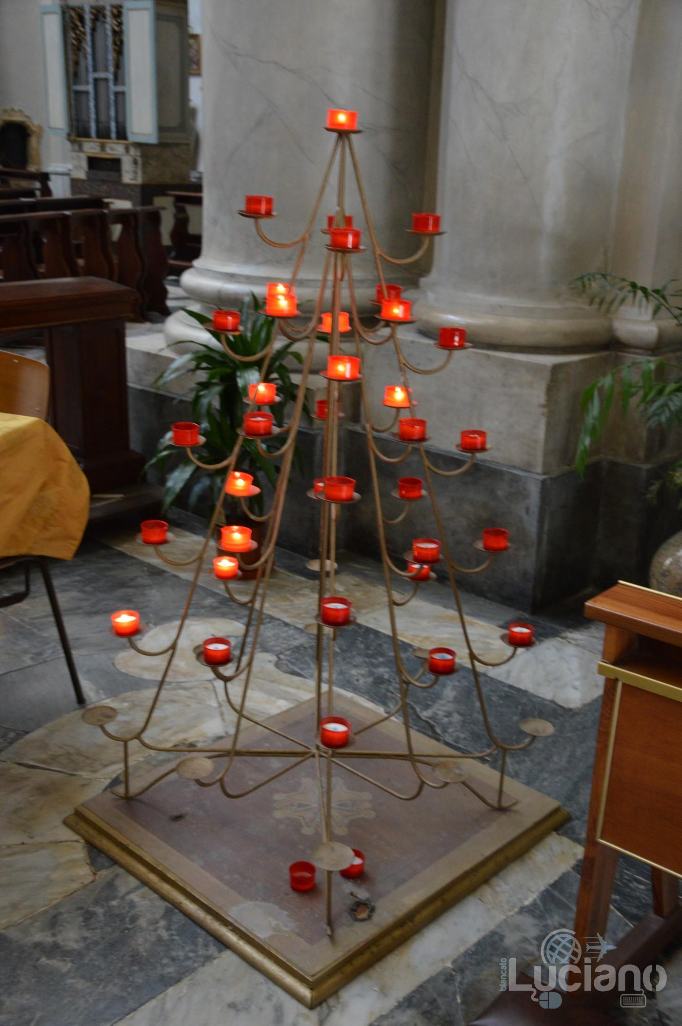 dettaglio candelabro nella Chiesa della Badia di Sant'Agata, durante i festeggiamenti per Sant'Agata 2019 - Catania (CT)