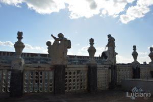 dettaglio, statue della Chiesa della Badia di Sant'Agata, durante i festeggiamenti per Sant'Agata 2019 - Catania (CT)