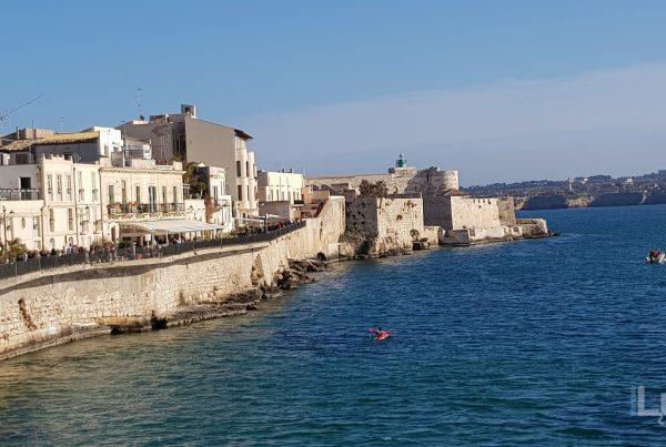 Siracusa - dettaglio del porto vecchio da largo aretusa