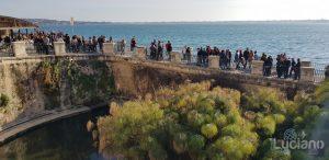 Siracusa - Fonte Aretusa - Ortigia - Pianta Papiro e vista su porto vecchio