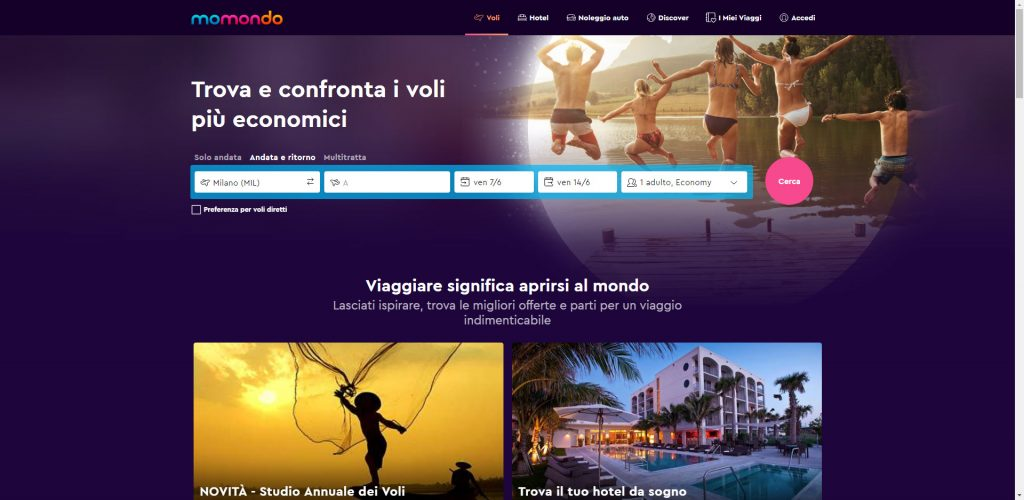 momondo Website