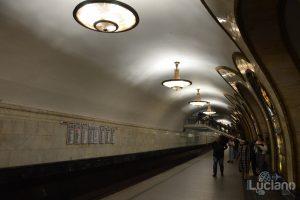 Novoslobodskaya (in russo: Новослободская) - Metro 5 - Metro Circolare Mosca - Russia