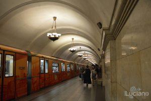 Krasnopresnenskaya (in russo: Краснопресненская) - Metro 5 - Metro Circolare Mosca - Russia