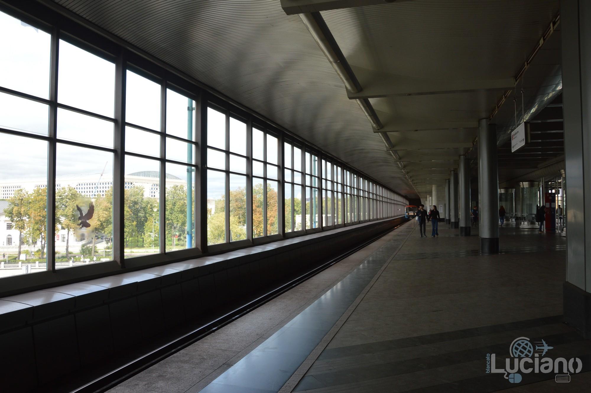Vorob'ëvy gory (in russo: Воробьёвы го́ры), ovvero Collina dei passeri. E' una stazione della Linea Sokol'ničeskaja, la prima linea della Metropolitana di Mosca.